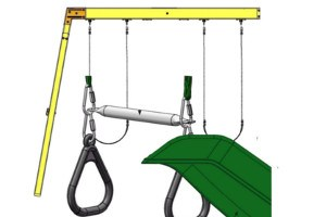 Next Generation climbing frame swing and slide