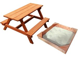Children's Picnic Table & Sandpit Set