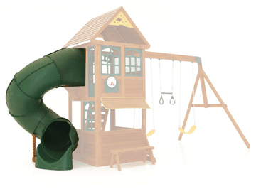 Play Equipment with Tube Slides