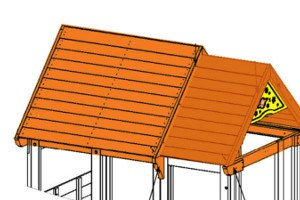 Next Generation climbing frame roof